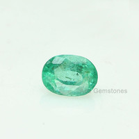 0.96 Cts. Natural Zambian Green Emerald Oval Cut Loose Gemstone Perfect Piece for Making Jewelry