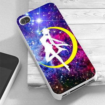 Sailor Moon Logo Galaxy Nebula - RiyanTani - Custom Print Hard Case - iPhone 4/4/s/5/5s/5c and Samsung S2 S3 S4