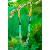 Sun Festival Necklace-Tangerine