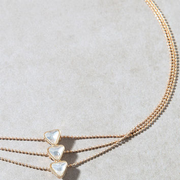 LA Hearts Stacked Triangle Choker at PacSun.com
