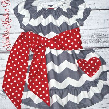 Girls Valentines Day Dress,  Baby Girls Valentines Day  Dress, Outfit, Sizes 3/6 months - Size 12