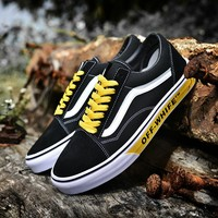 Vans X  Off-White Woman Men Fashion Casual Sneakers Sport Shoes