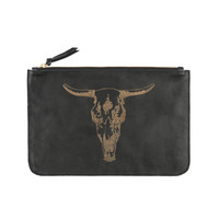 Alola - Toro Leather Clutch | Black