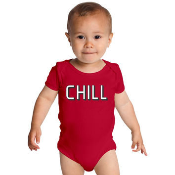 Funny Netflix And Chill Baby Onesuits