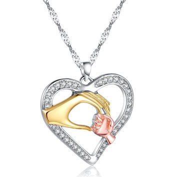 Best Gift for Mom Mothers Day Present Crystal Necklace Jewelry for Love Ones(Gift box) [9571278157]