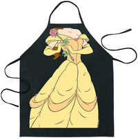 Beauty And The Beast Belle Character Apron Black