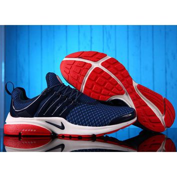 NIKE Men Fashion Running Sport Casual Shoes Sneakers Dark blue Red Soles G-MDTY-SHININ