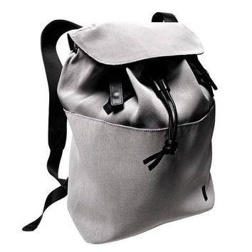 Grey Modern Knapsack Backpack