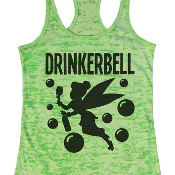 Drinkerbell Burnout Tank Top By Funny Threadz