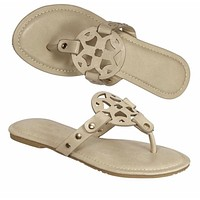 Nude Tory Sandals