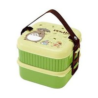 1 X Bento: Studio Ghibli Totoro Design 2-tier Bento Lunch Box (Volume: 620ml + 630ml)