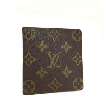 Louis Vuitton Monogram PorteBillets 6 Cartes Credit Bifold Wallet /d762