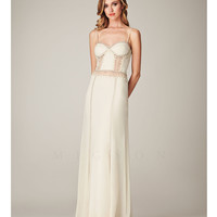 Mignon VM1015 Ivory Embroidered Illusion Back Dress 2015 Prom Dresses