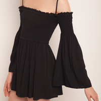 Flared sleeves romper