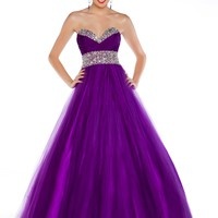Ball Gowns by Mac Duggal 4962H Purple Ball Gown