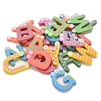 Letters Words A-Z Kids Wooden Alphabet Fridge Magnet Kids Educational Toy 3C#