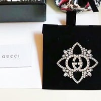 GUCCI Fashion New More Diamond Crystal Brooch Women Accessories
