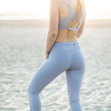 Kristen Active Periwinkle Cutout Sports Bra