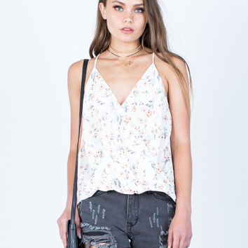 Wrapped Floral Cami