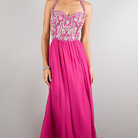 Floor Length Halter Dress