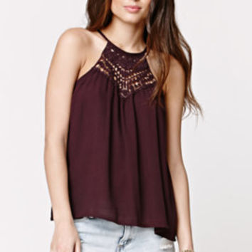 LA Hearts Goddess Crochet Neck Tunic Top at PacSun.com