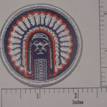 Chief Illiniwek Embroidered Iron On Patch