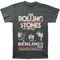 Rolling Stones Men's  Europe 76 T-shirt Grey