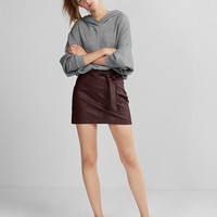 (Minus The) Leather Sash Waist Mini Skirt