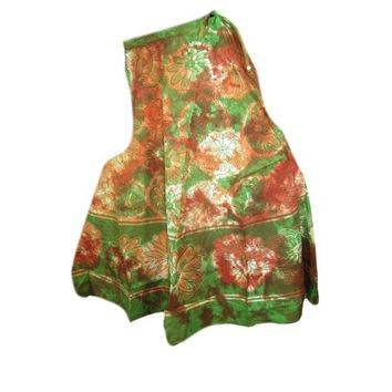 Mogul Wmens Skirt Cotton Tie-Dye Floral Print Gypsy Flared Summer Skirts - Walmart.com