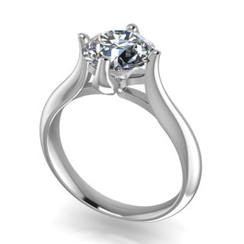 Solitaire Diamond 3D CAD STL File Format Ring -JT28