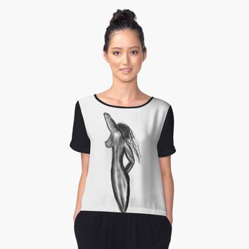 'Nude 22' Women's Chiffon Top by BillOwenArt