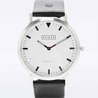 Shore Project Poole Leather Watch in Black - Urban Outfitters