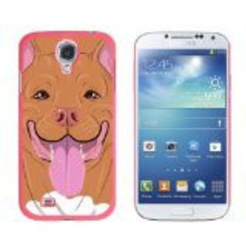 Graphics and More Pit Bull Red Nose American Staffordshire Terrier Snap-On Hard Protective Case for Samsung Galaxy S4 - Non-Retail Packaging - Pink