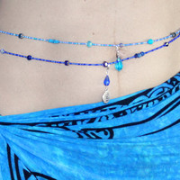 Belly Beads - Pick your charm - Blue River - Belly dancing, pregnant belly, beach accessory, kids jewelry
