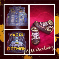 Custom Batman Denim Vest