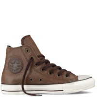 Converse - Chuck Taylor Leather Side Zip - Hi - Pinecone