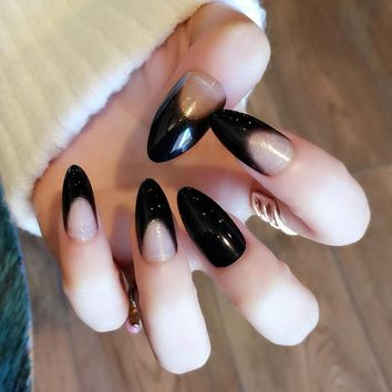 Best Black Press On Nails Products on Wanelo