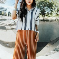 Kelsey Striped Button Up