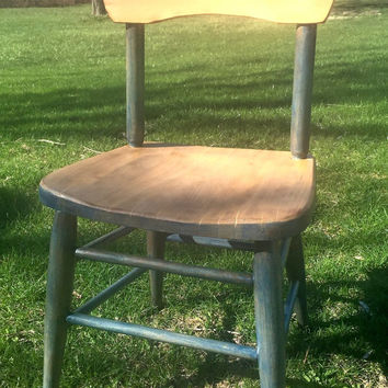 Kids Furniture, Kids Desk Chair, Wood Chair, Kids Chair, Vintage Childs Desk Chair, Vintage Childrens Desk Chair-Refinished, Childs Chair