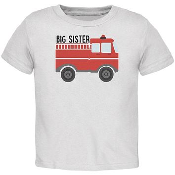 Big Sister Fire Truck Toddler T Shirt