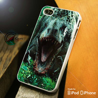 Jurassic World In Forest iPhone 4 5 5c 6 Plus Case, Samsung Galaxy S3 S4 S5 Note 3 4 Case, iPod 4 5 Case, HtC One M7 M8 and Nexus Case