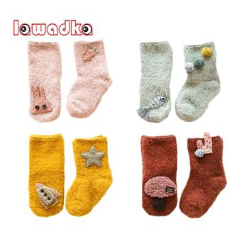 Lawadka Velvet Baby Socks Winter Fashion Baby Girl Socks Newborn Baby Boy Socks Stuff Clothes Accessories