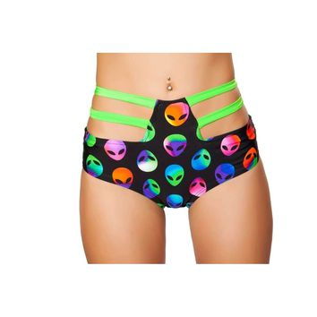 Roma Rave SH3256 - High-Waisted Strapped Shorts