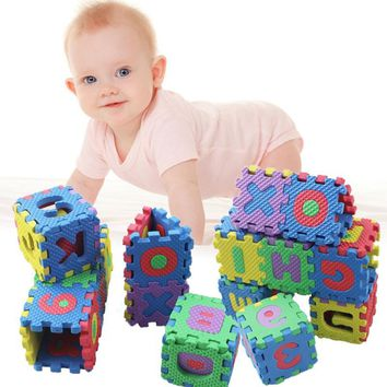 36pcs/set Baby Puzzle Play Mats Infant Early Mini Math Educational Puzzle Kids Alphabet Letters Numeral Foam Play Protection Mat