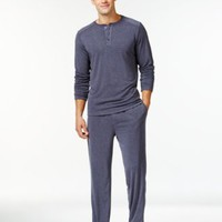 32 Degrees by Weatherproof Heat Comfort Pajama Pant and Long Sleeve Henley Set | macys.com