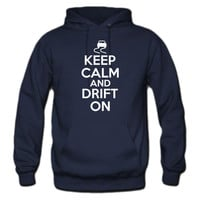 Keep calm and drift on_nav hoodie