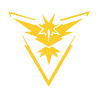 Pokemon Go Team Instinct Die Cut Vinyl Decal Sticker