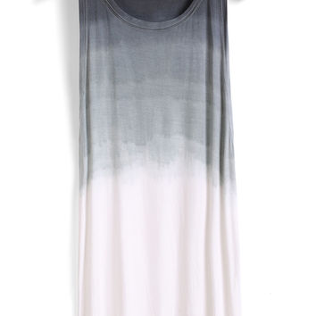 Round Neck Ombre Shift Dress
