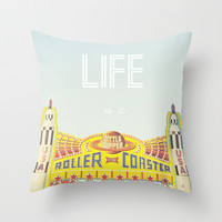 Life Is A Roller Coaster Throw Pillow by Libertad Leal Photography