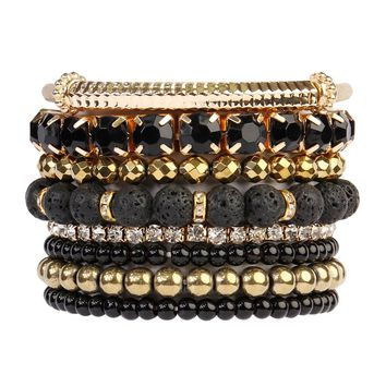 6 Pieces Stackable Stretch Bracelet